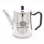 茶漉し付ステンレス製クラシックタイプティーポット(オリジナルロゴ入り)