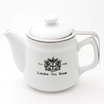 茶漉し付陶器製ティーポット(オリジナルロゴ入)