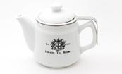 【紅茶専門店ならではの視点から生まれたティーポット】陶器製茶漉し付ティーポット(オリジナルロゴ入)